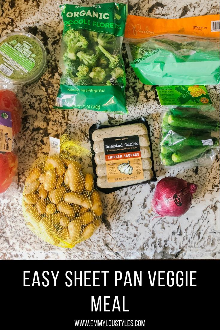 Sheet Pan Veggie Meal w_Garlic Chicken Sausage