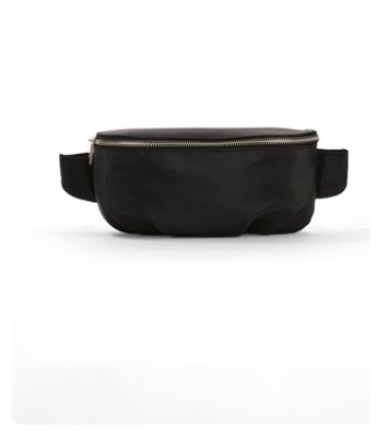 Simple black fanny pack with zipper_friday favorites from midwest blogger emmy lou styles