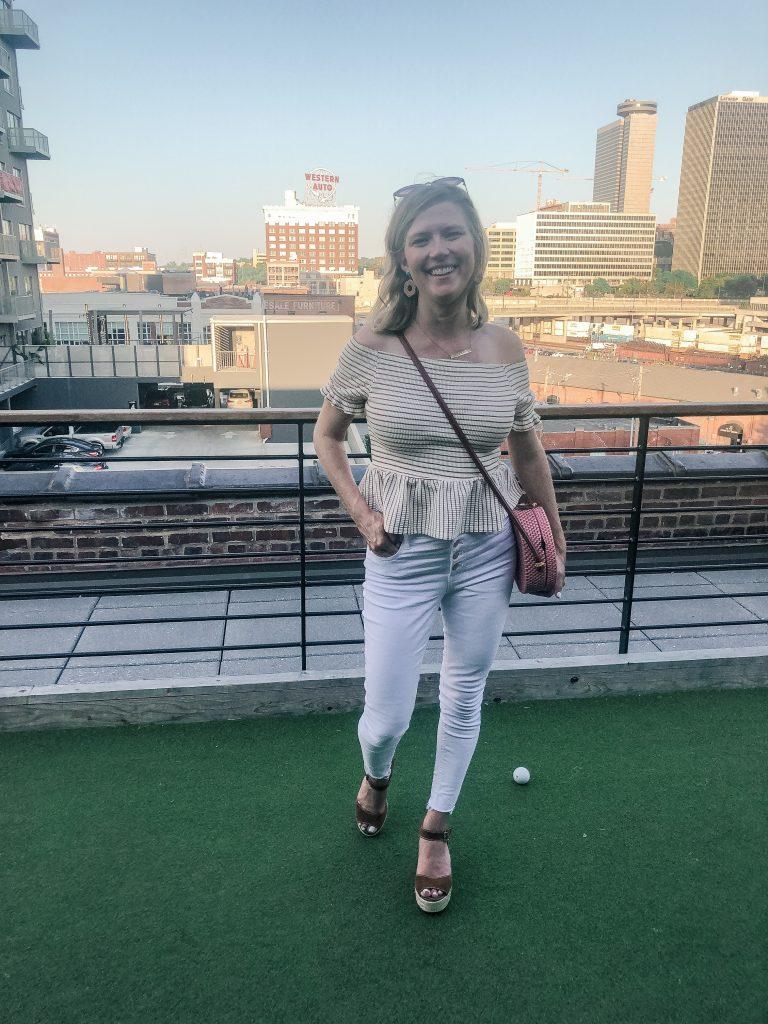Girls Weekend to Kansas City_drinks at Percheron rooftop bar