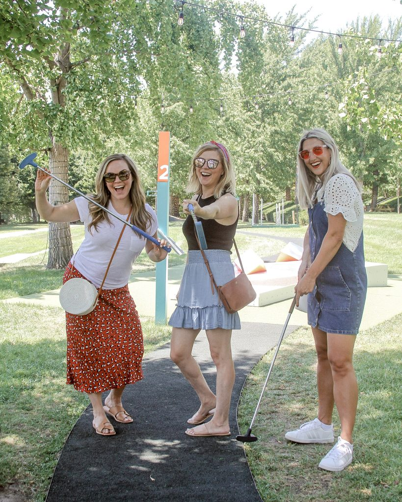 Girls Weekend to Kansas City_mini golf at KC art museum