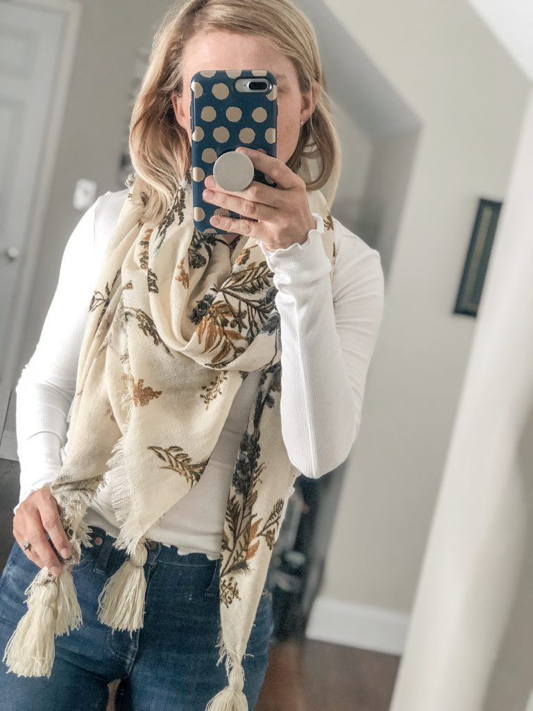 Treasure and Bond Floral Tassel Scarf from Nordstrom