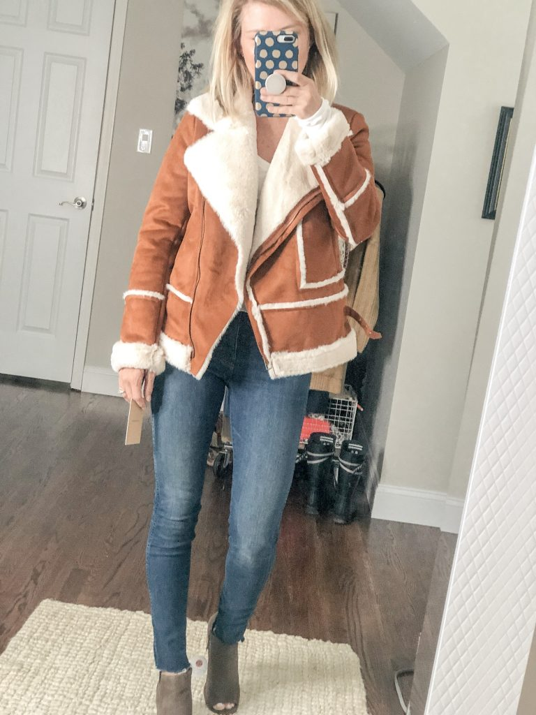 Women's Faux Shearling Jacket