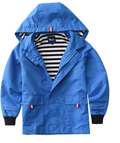 Girls and Boys colorful rain jackets from Amazon