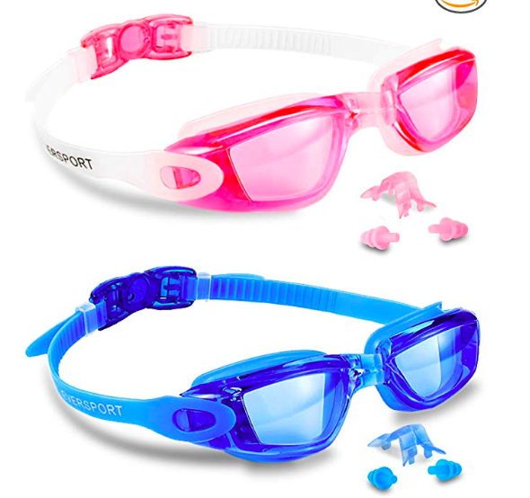 two pack shatterproof kids googles