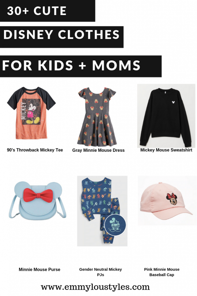 30+ Cute Disney Clothes for kids and moms