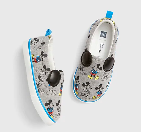 Boys Mickey Mouse slip on sneakers