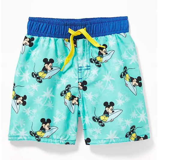 Mickey Mouse swim trunks