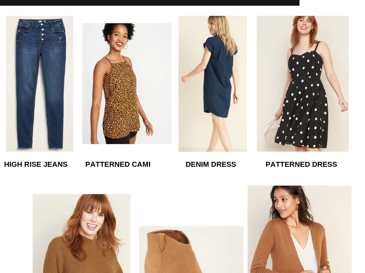Capsule Wardrobe for Fall:  7 Must Have Pieces from Old Navy