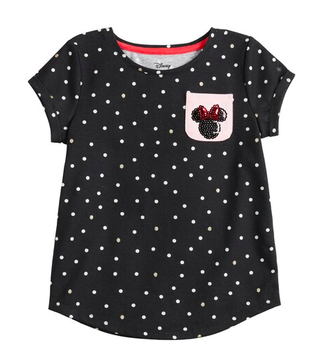 Minnie Mouse tshirt for girls with sequins