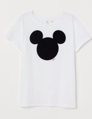 White mickey mouse t-shirt for women