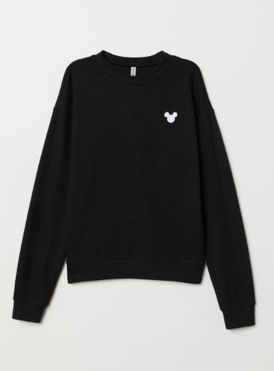 Black Mickey mouse sweatshirt for women