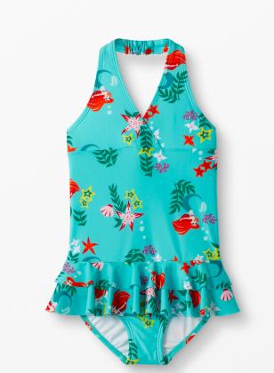 Girls little mermaid halter swimsuit