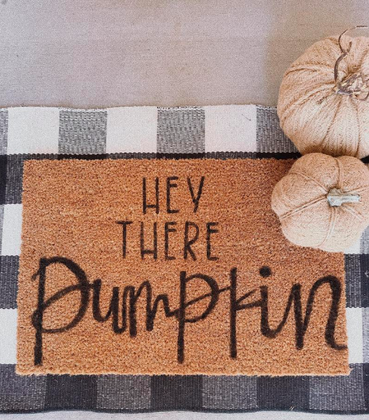 hey there pumpkin door mat_simple fall decor