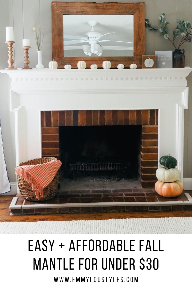 Easy + Affordable Fall Mantle for Under $30