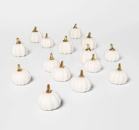 small white pumpkins for decorating