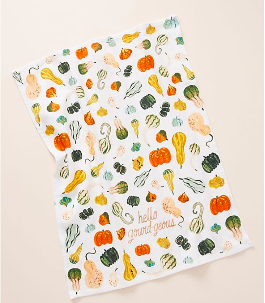 decorative kitchen dish towel for fall