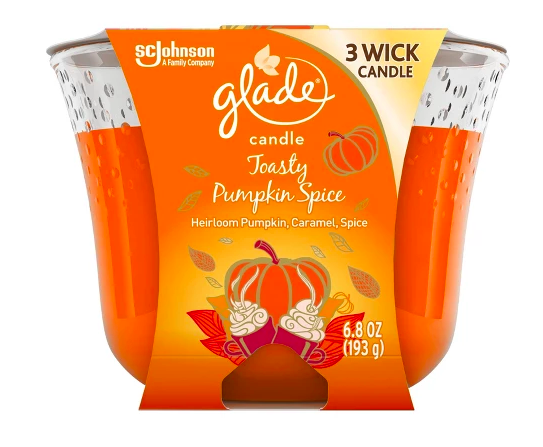 glade pumpkin spice candle