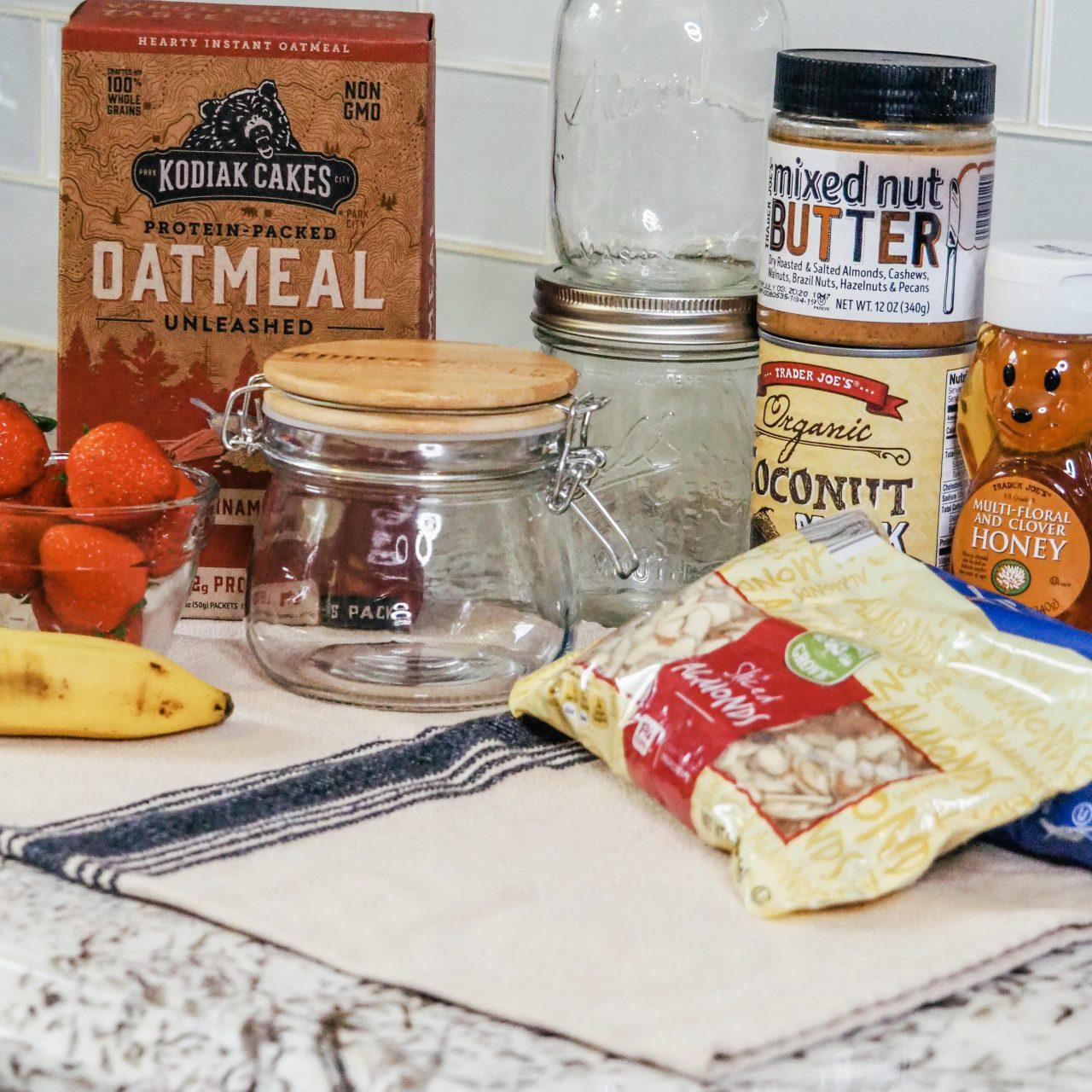 Easy Overnight Oats with Kodiak Cakes Oatmeal