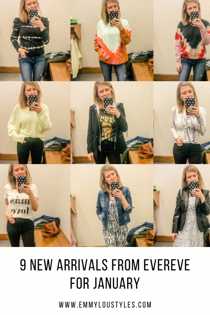 9 photo collage of woman showing new arrivals from Evereve