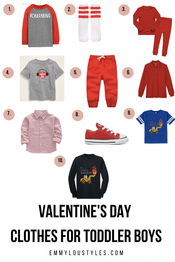 Valentines Day Clothes for Toddler Boys