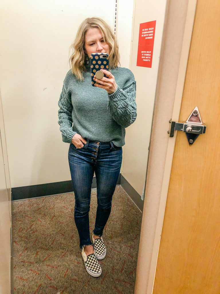 Green spring sweater from Target for women