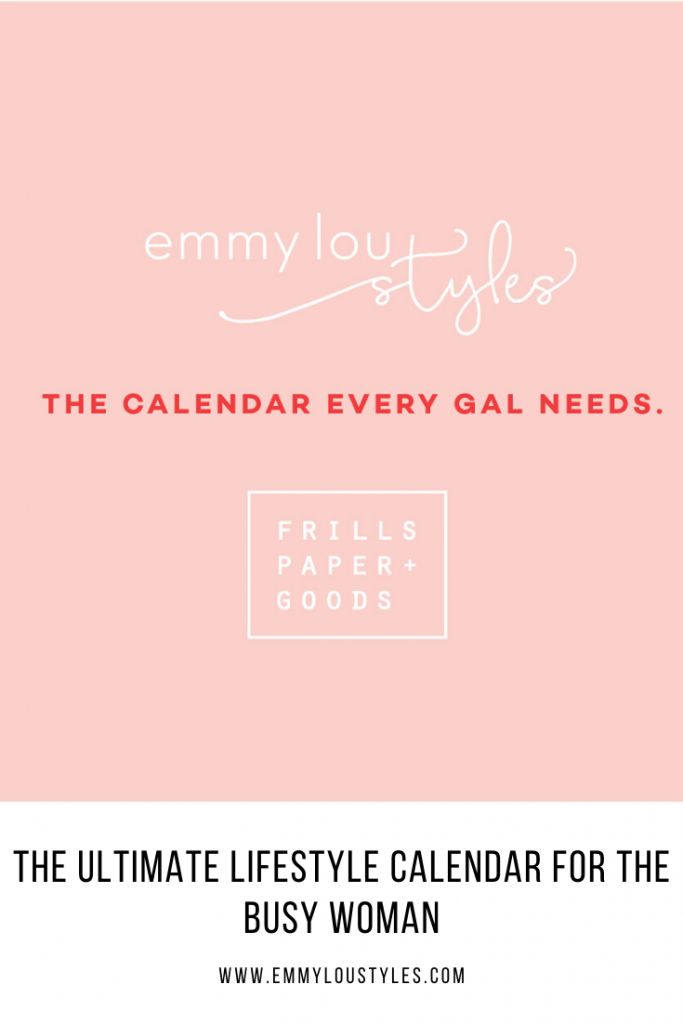 Lifestyle Calendar for the busy gal