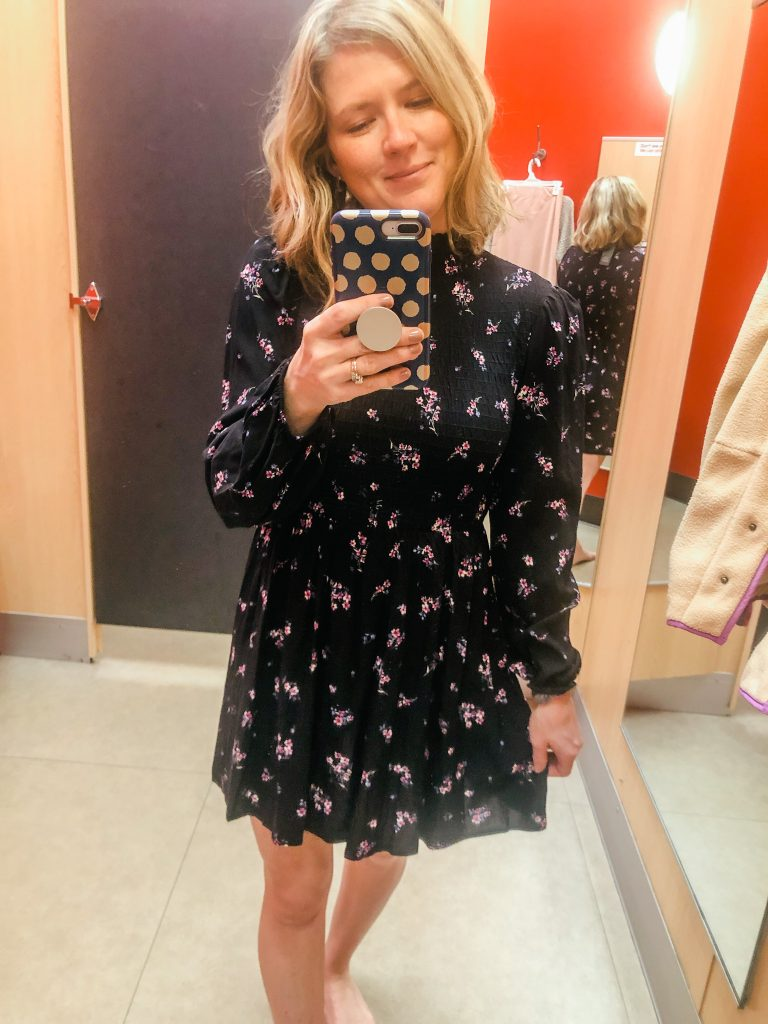 Puff sleeve floral dress from Target