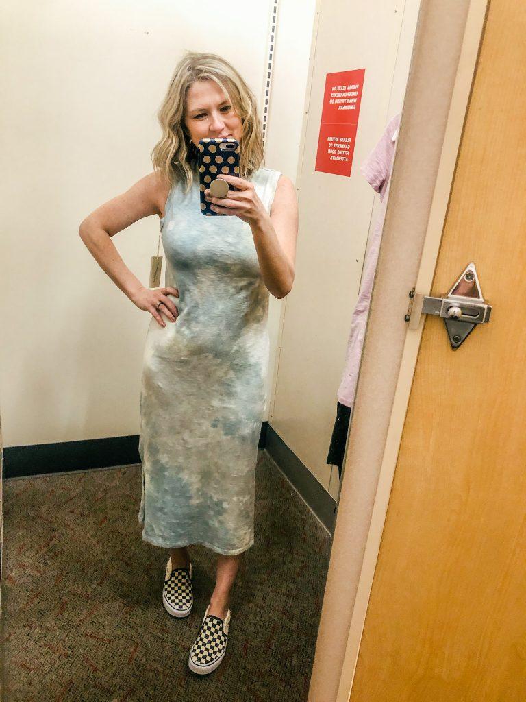 Tie Dye Midi length dress by Universal Thread