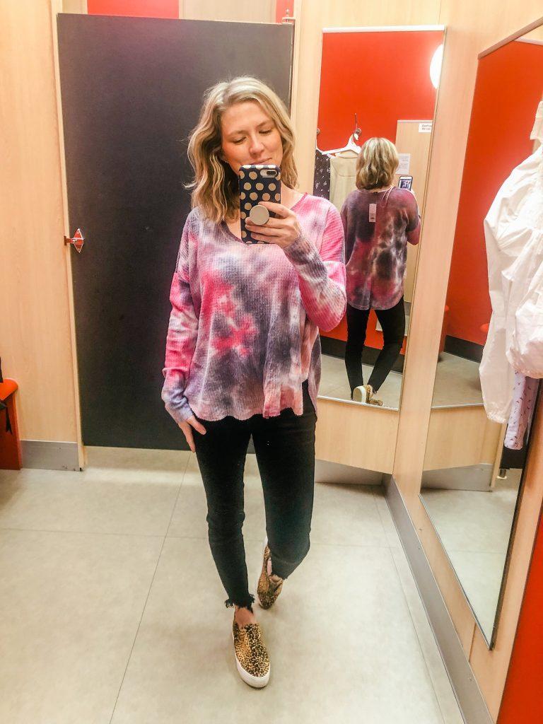 Women's tie dye tunic from Target