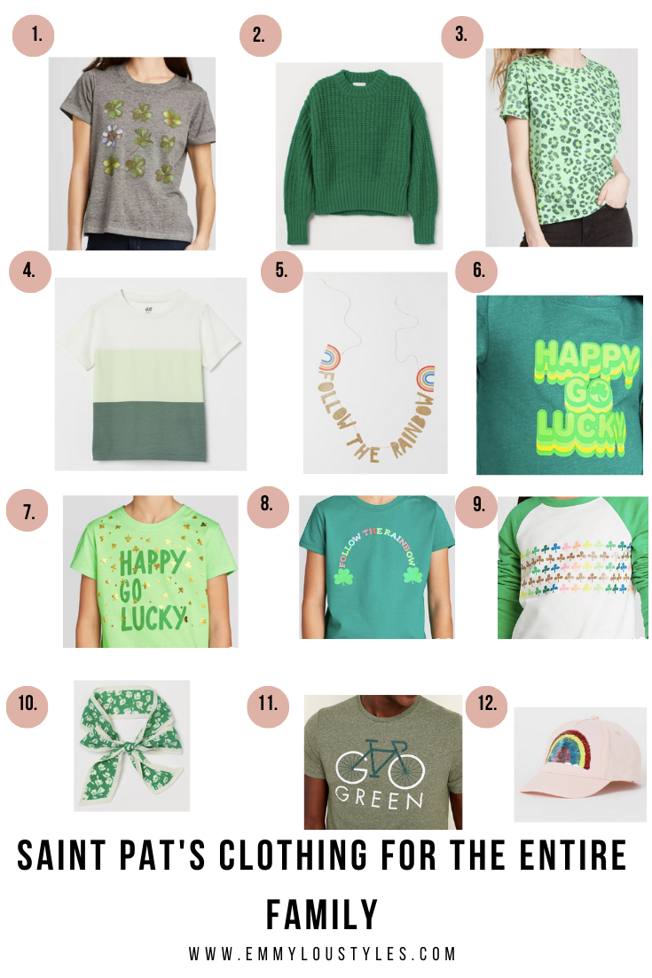 St. Patrick's Day Clothing for the Entire Family
