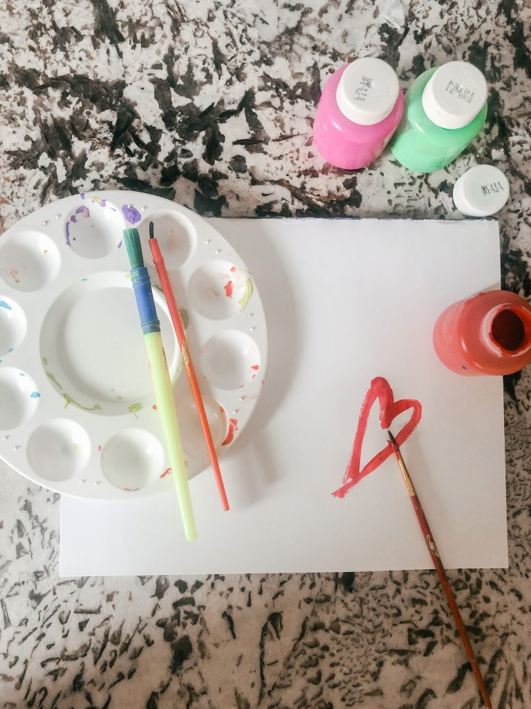 craft supplies for kids: acrylic paint for kids and paint brushes