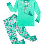 Girls pajama set with mermaid print from Amazon