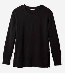 Casual side split cotton sweatshirt from Amazon