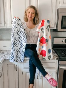 Colorful, absorbent kitchen towels