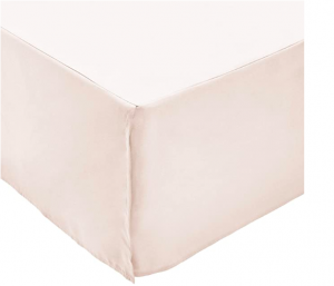 Solid light pink bed skirt Amazon