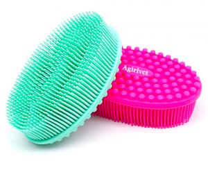Silicone sponge body scrubbers from Amazon