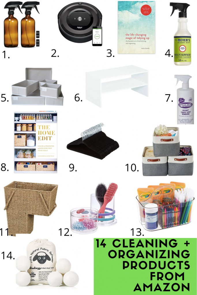Amazon cleaning and organizing products