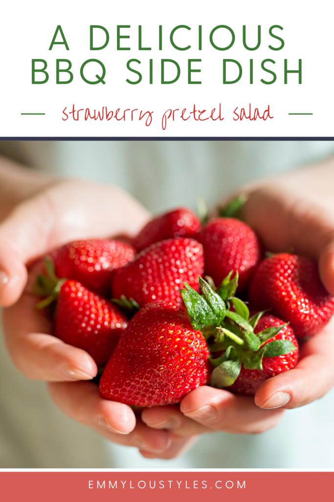 Easy BBQ side dish_ Strawberry Pretzel Salad
