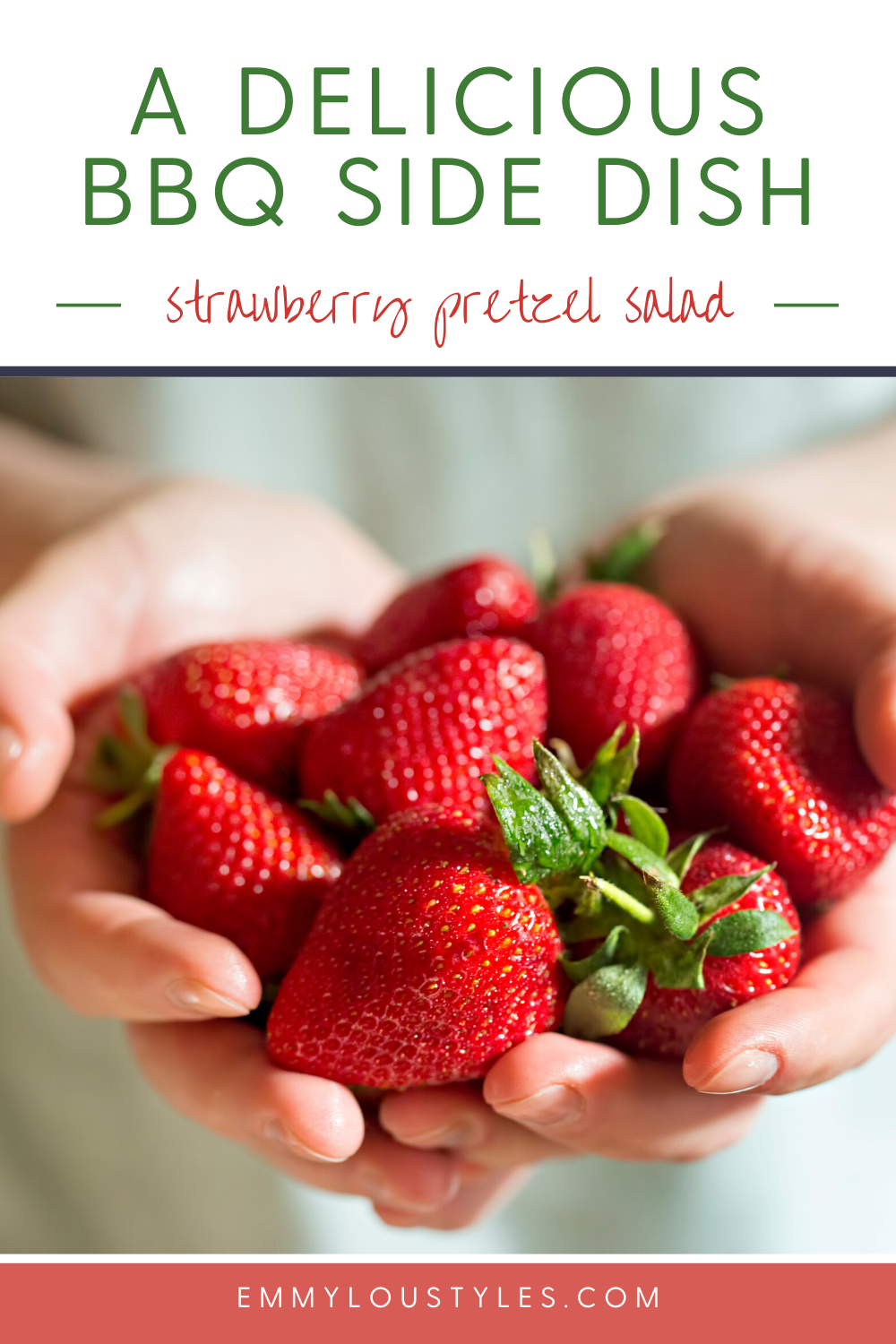Easy BBQ side dish_ Strawberry Pretzel Salad