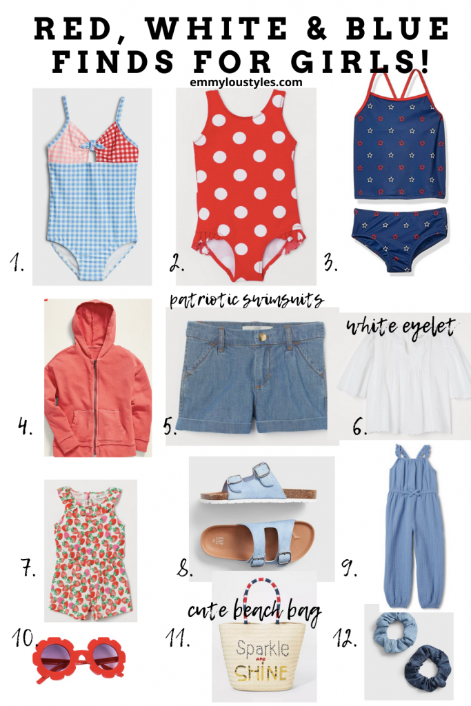 red white and blue summer outfits for girls