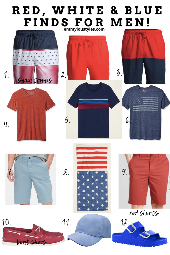 red white and blue outfits for men for memorial day and fourth of july