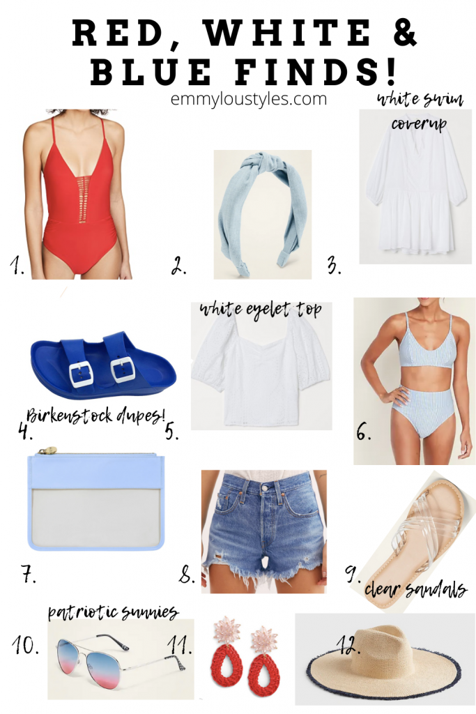Red White and Blue Finds for Women