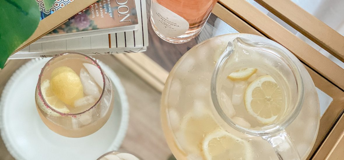 An Easy Summer Cocktail: Rosé Lemonade
