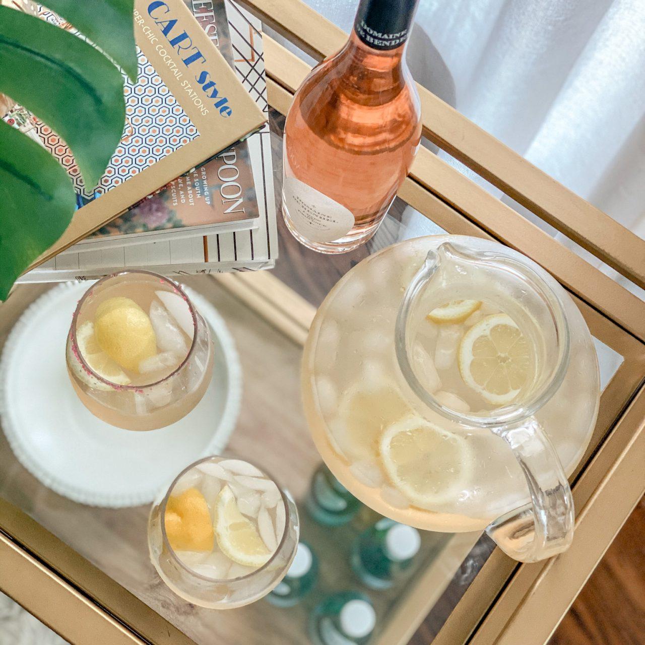 An Easy Summer Cocktail: Rosé Lemonade