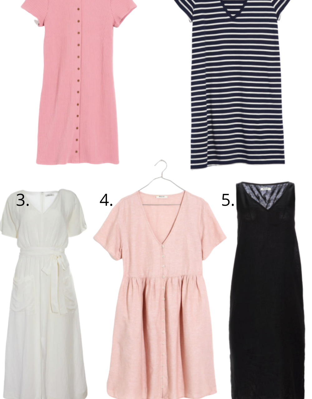 5 Must Have Summer Dresses from Madewell