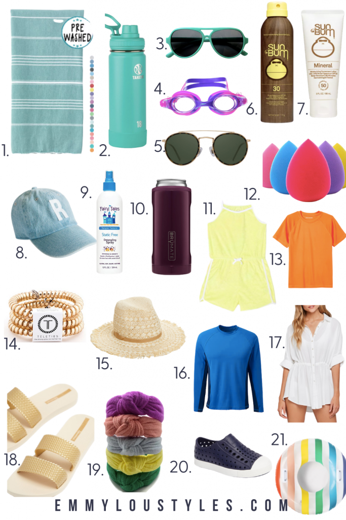 what to pack for the pool or beach vacation