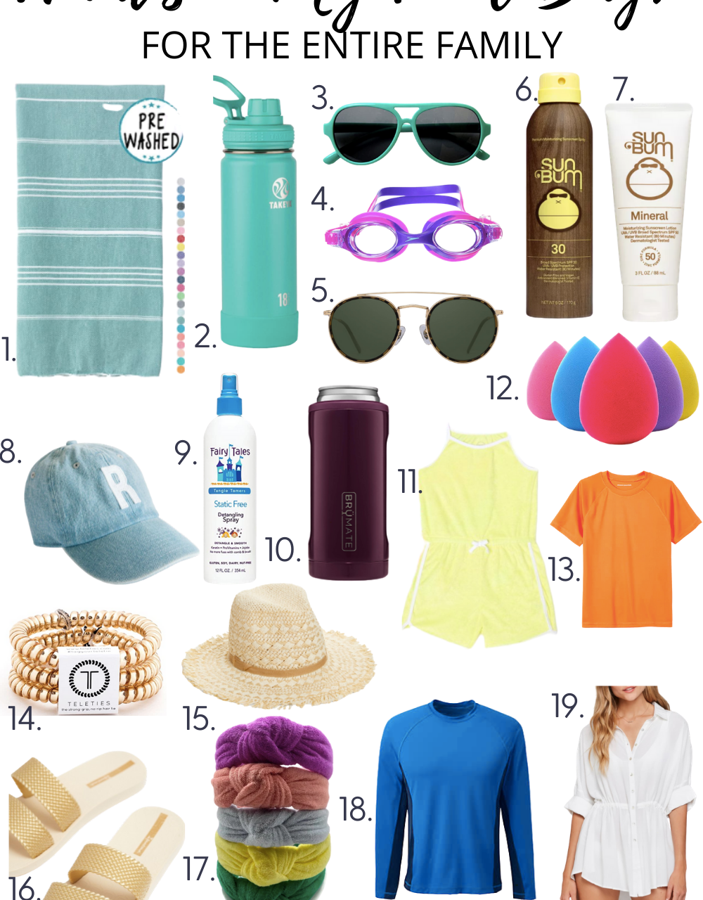 What's In Our Pool Bag? Must Have Pool Items!