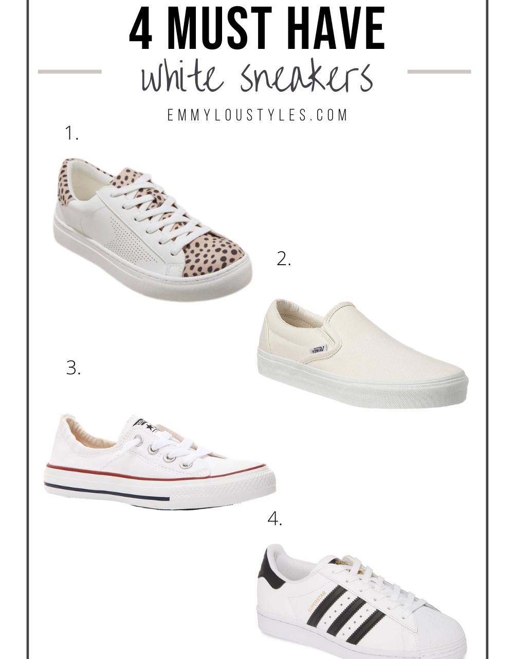 4 Must Have White Sneakers