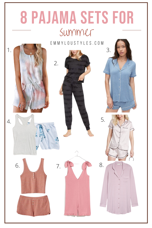 summer pajama sets for women