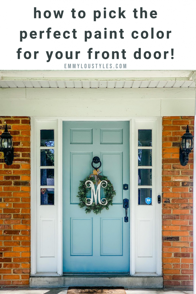 how to pick the perfect paint color for your front door!